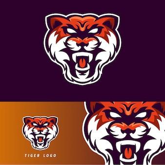 Emblème de la mascotte du jeu tiger esport