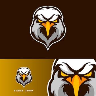 Emblème de la mascotte eagle esport