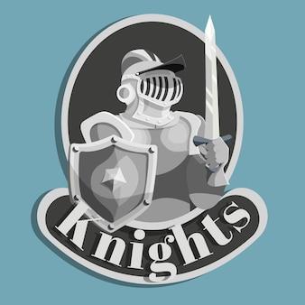 Emblème en métal chevalier