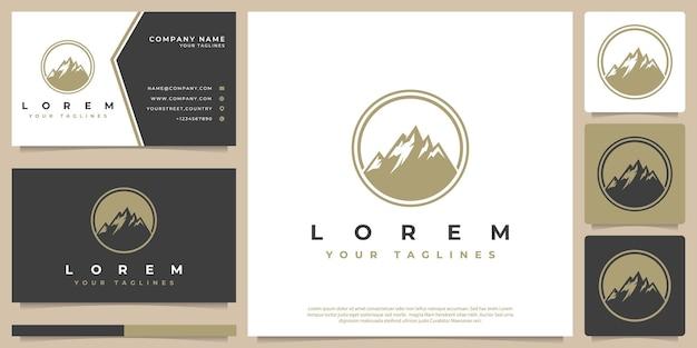 Emblème de montagne logo vectoriel rétro style hipster vintage
