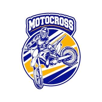 Emblème de motocross