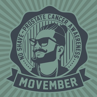 Emblème movember no shave