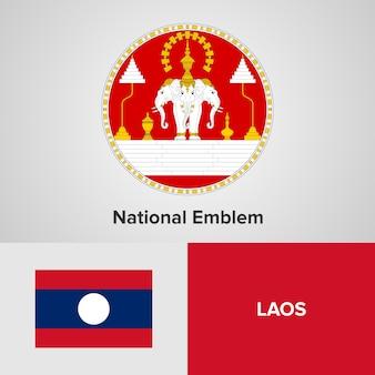 Emblème national du laos et drapeau