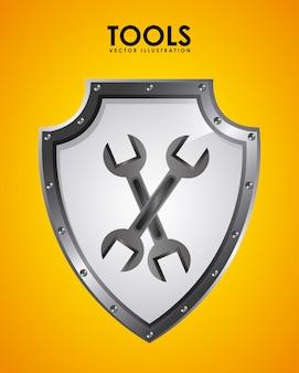 Emblème d'outils
