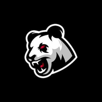 Emblème de panda en colère
