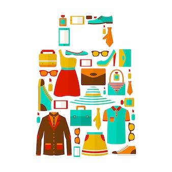 Emblème de sac de shopping