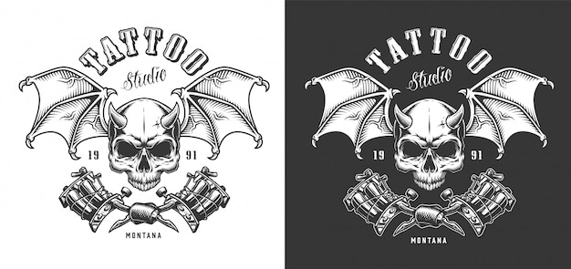 Emblème de salon de tatouage