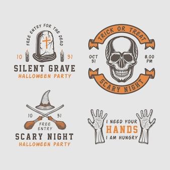 Emblème de setor logo halloween
