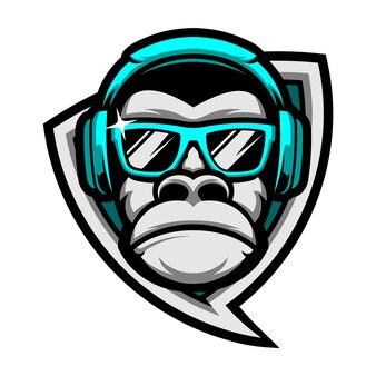 Emblème de singe funkey