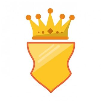 Emblème avec le symbole de la couronne