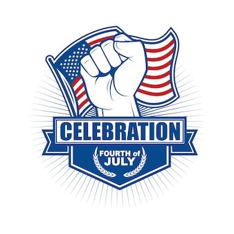 Emblème et symbole du jour de l'indépendance des états-unis
