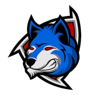 Emblème de tête de loup