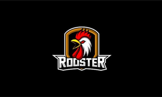 Emblème de tête de poulet coq
