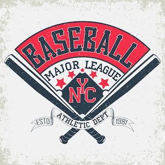 Emblème de typographie de baseball, logo de sport