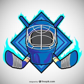 Emblème de vecteur de hockey