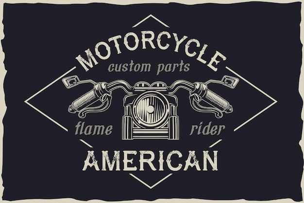 Emblème de vecteur de réparation personnalisée de moto