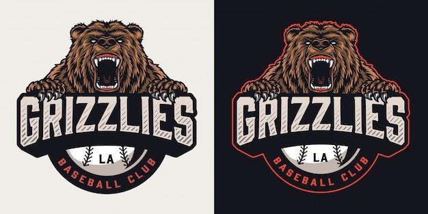 Emblème vintage de club de sport coloré