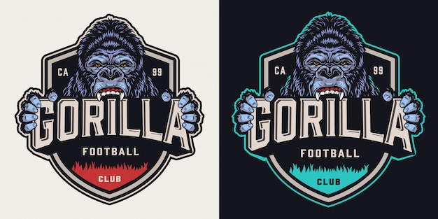 Emblème vintage de l'équipe de football