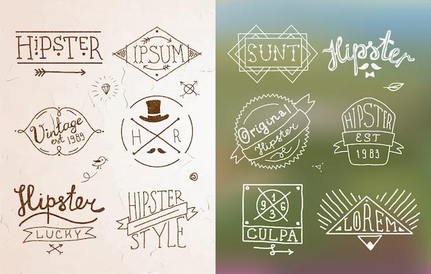 Emblème vintage hipster
