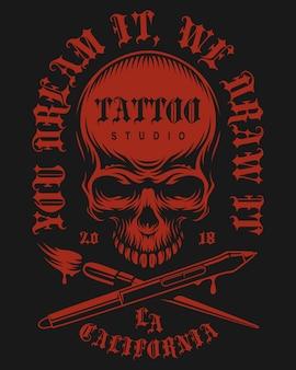 Emblème vintage de tatouage