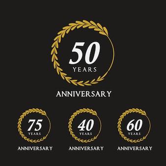 Emblèmes anniversaire d'or