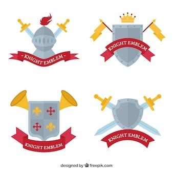 Emblèmes de chevalier créatif