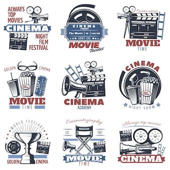 Emblèmes de cinéma en couleur