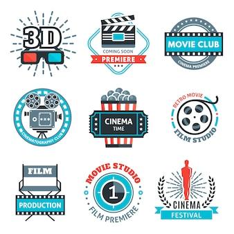 Emblèmes colorés de cinéma