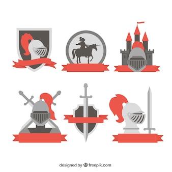 Emblèmes créatifs des chevaliers