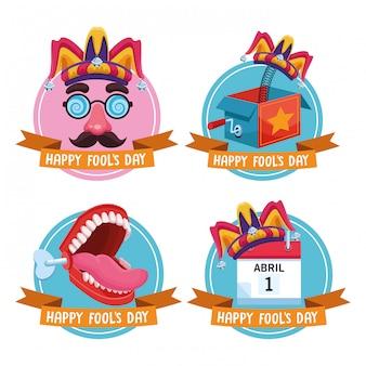 Emblèmes de la fête du poisson d'avril