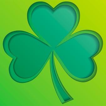 Emblèmes feuilles de trèfle irlandais feuilles de trèfle pour le joyeux eps de la saint-patrick