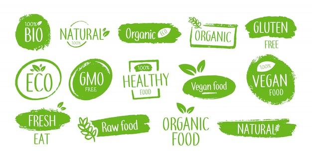 Emblèmes de produits bio