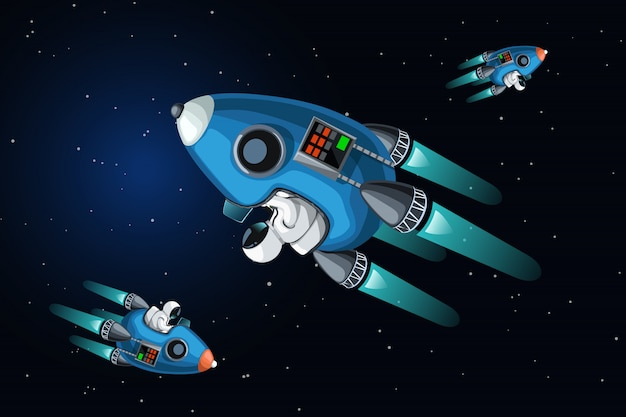 Embouteillage dans l'espace