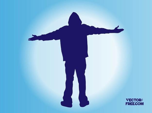 Eminem hip silhouette vecteur hop