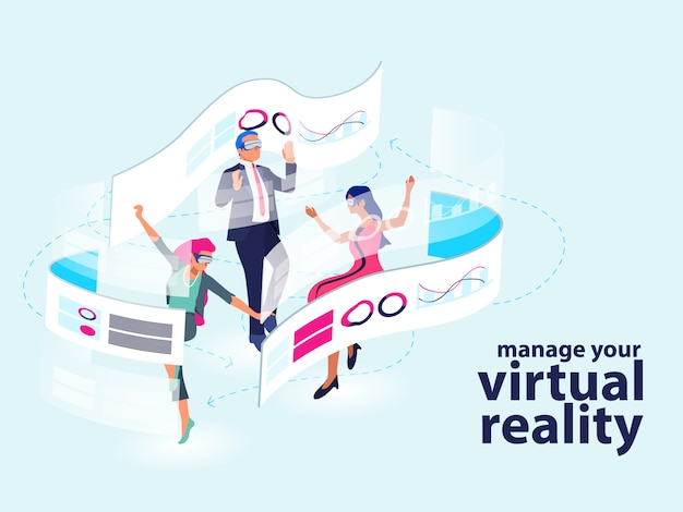 Émission de réalité virtuelle moderne