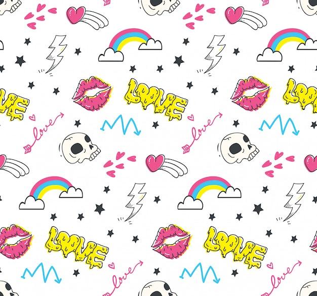 Emo adolescents doodle sans soudure