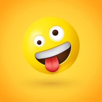 Emoji au visage loufoque avec la langue sortie