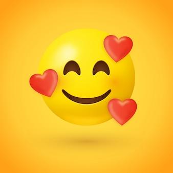 Emoji avec des coeurs