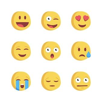 Emoji icône des réactions sur les réseaux sociaux