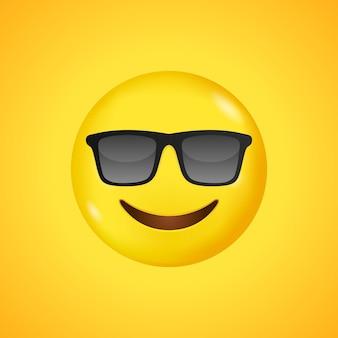 Emoji avec des lunettes de soleil