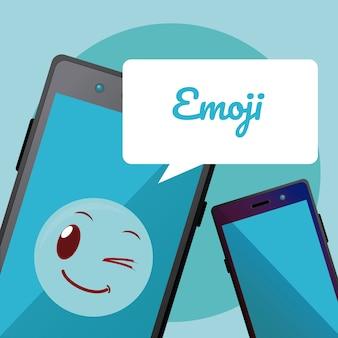 Emoji mignon sur l'écran du smartphone