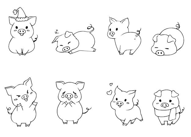 Emoji mignon petit cochon.