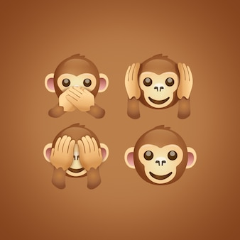 Emoji monkeys