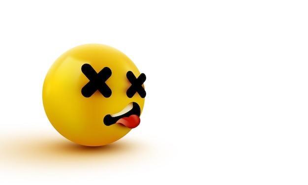 Emoji visage mort