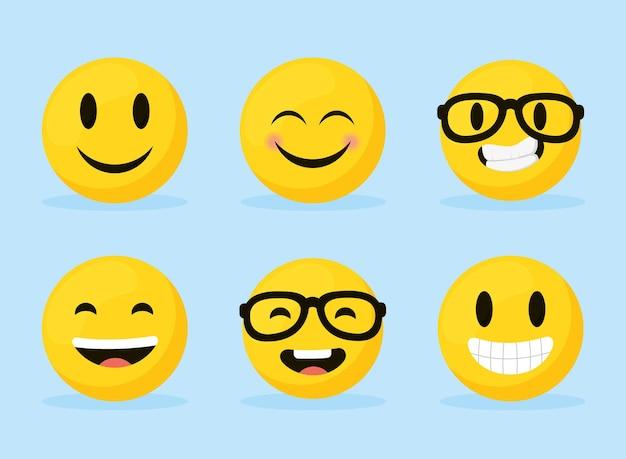 Emoji visages heureux