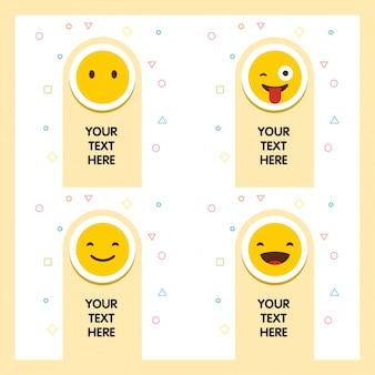 Emoji avec votre vecteur de conception de message