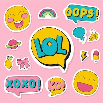 Emojis et autocollants de médias sociaux