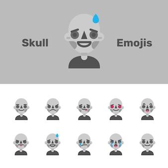 Emojis crâne d'halloween
