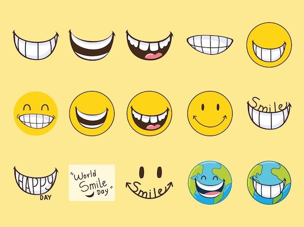 Emojis du jour du sourire