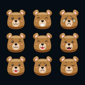 Emoticon ours mignon